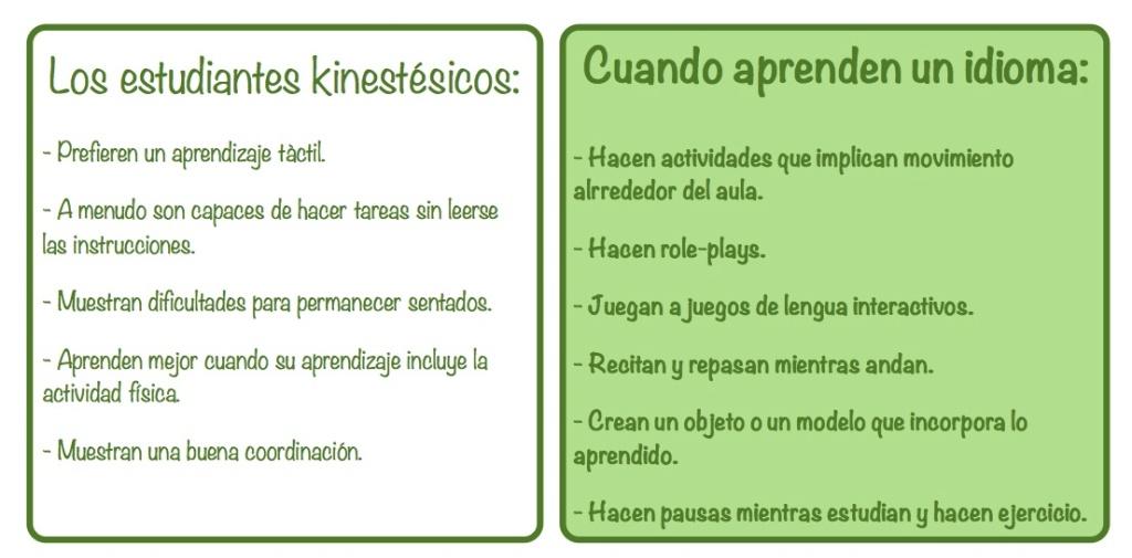 Estudiantes kinestesicos foto